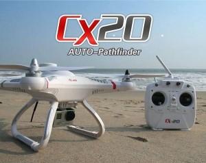 Cheerson CX20 ja SJ4000-kamera
