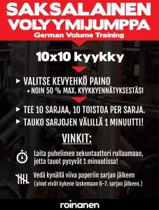 GVT ja 10x10 kyykky