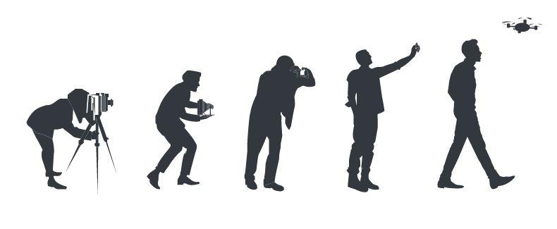Selfien evoluutio