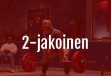2-jakoinen treeniohjelma
