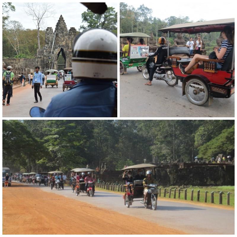 Angkor temppelialue ja tuktuk