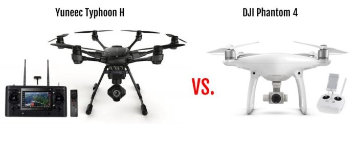 yuneec typhoon h vs dji phantom 4