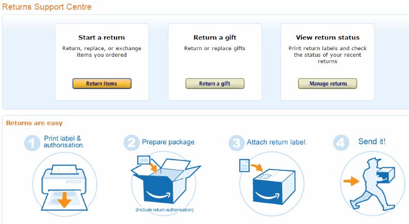 Amazon palautus