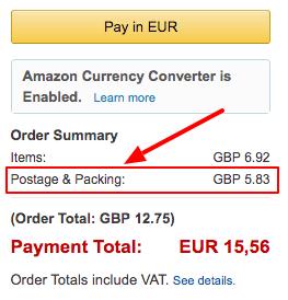 Amazon toimituskulu