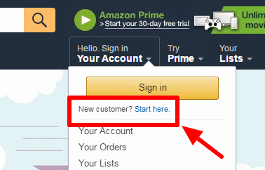 Amazon.co.uk rekisteröinti