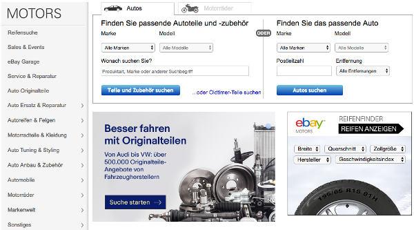 Auton varaosat Saksan eBaysta