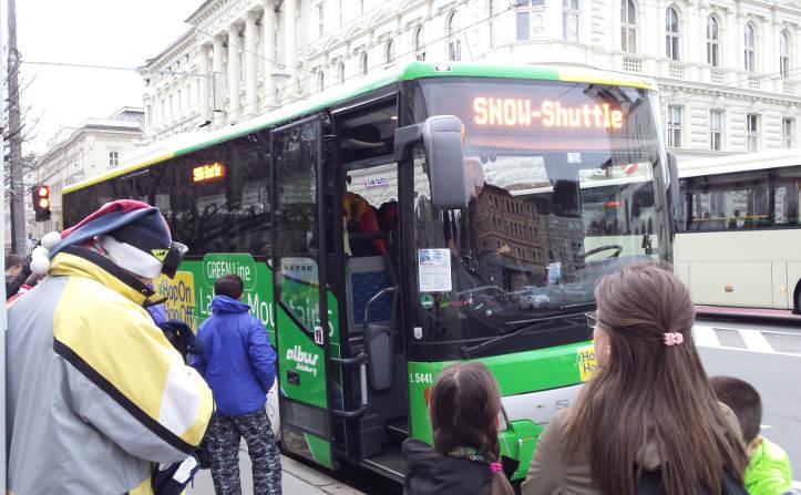 Salzburg laskettelu - bussi Flachau